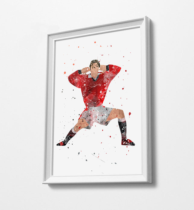 Becks | Minimalist Watercolor Art Print Poster Gift Idea For Him Or Her | Football | Soccer