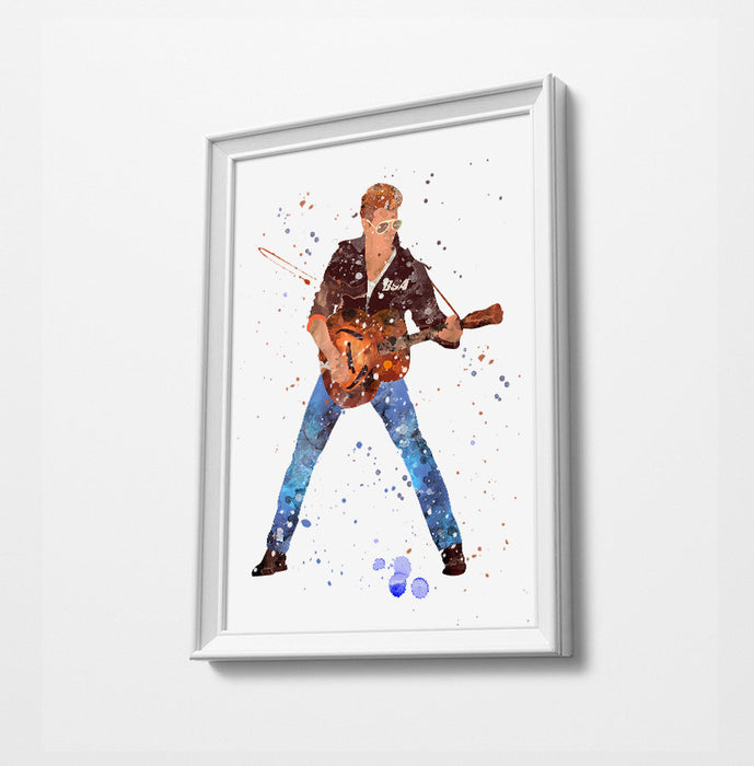 George Minimalist Watercolor Art Print Poster Gift Idea For Him Or Her Music Poster