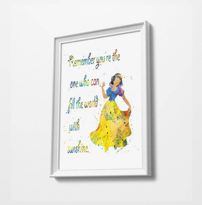 Snow White Quote | Disney Princess Prints | Minimalist Watercolor Art Print Poster Gift Idea For Him Or Her | Nursery Art |