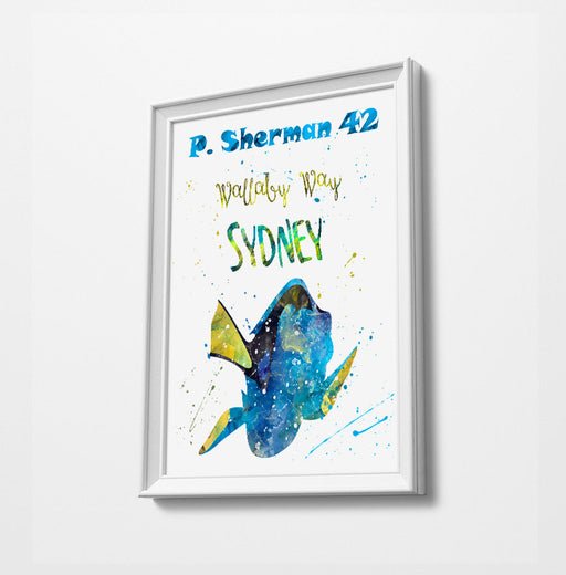 Nemo | Dory | Minimalist Watercolor Art Print Poster Gift Idea For Him Or Her | Nursery Art |