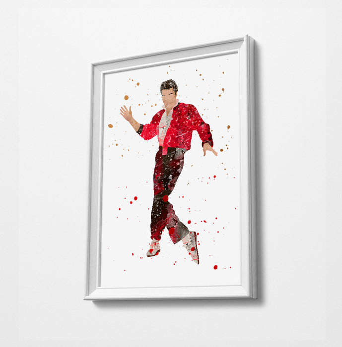 Elvis Minimalist Watercolor Art Print Poster Gift Idea For Him Or Her Music Poster