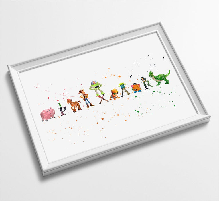 Toy Story | Minimalist Watercolor Art Print Poster Gift Idea For Him Or Her | Nursery art