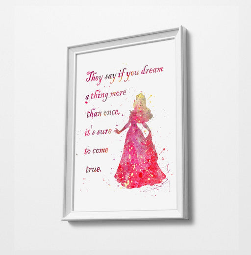 Disney Princess Prints | Minimalist Watercolor Art Print Poster Gift Idea For Him Or Her | Nursery Art |