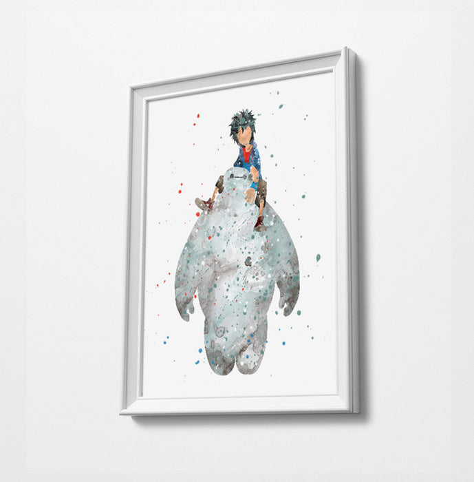 Minimalist Watercolor Art Print Poster Gift Idea For Him Or Her | Nursery Art | Disney Prints