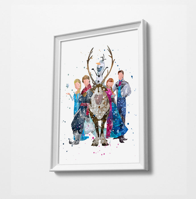 Frozen | Minimalist Watercolor Art Print Poster Gift Idea For Him Or Her |