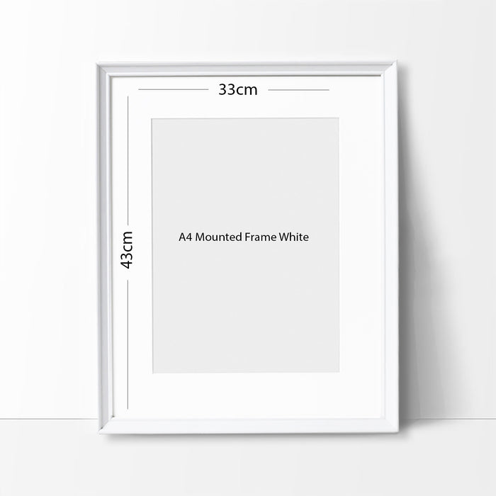 Minimalist Watercolor Art Print Poster Gift Idea For Him Or Her