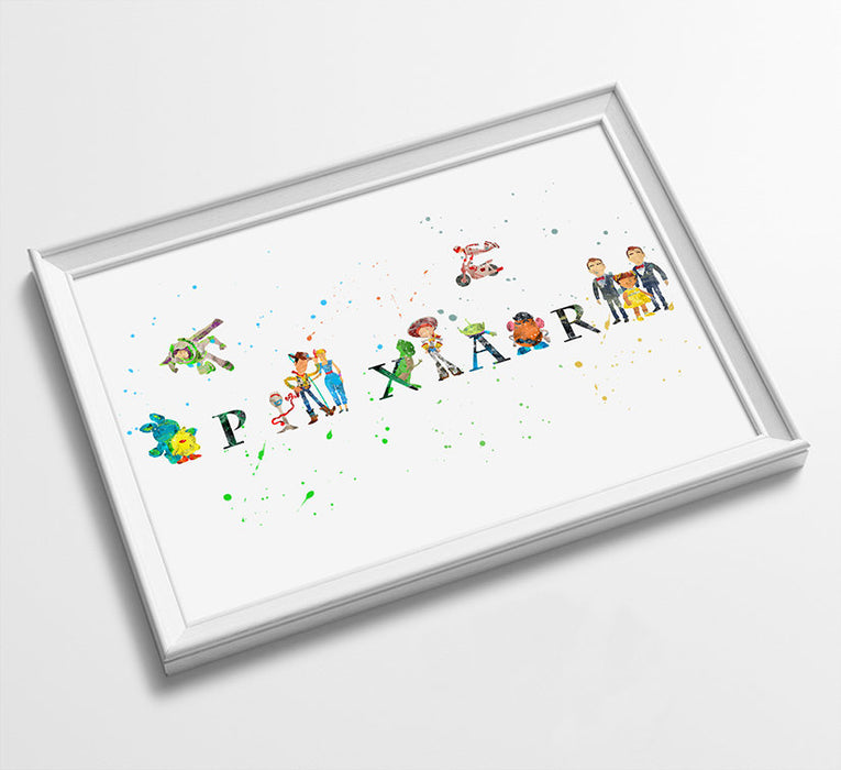 Toy Story | Minimalist Watercolor Art Print Poster Gift Idea For Him Or Her |