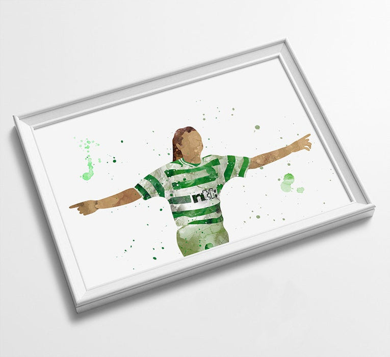 Henrik Larsson Minimalist Watercolor Art Print Poster Gift Idea For Him Or Her | Football | Soccer