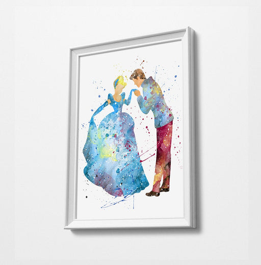 Cinderella | Disney Princess Prints | Minimalist Watercolor Art Print Poster Gift Idea For Him Or Her | Nursery Art |