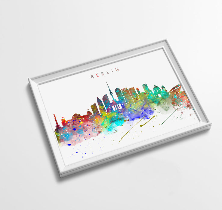 Berlin Skyline Art Print  | Minimalist Watercolor Art Print Poster Gift Idea For Him Or Her | Wall Art | City Skyline | City Prints