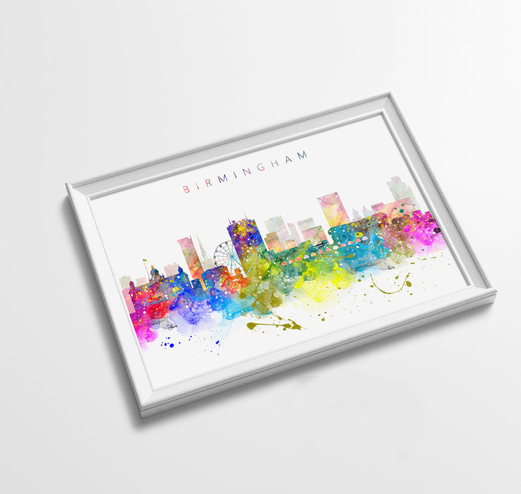 Birmingham Skyline Art Print  | Minimalist Watercolor Art Print Poster Gift Idea For Him Or Her | Wall Art | City Skyline | City Prints