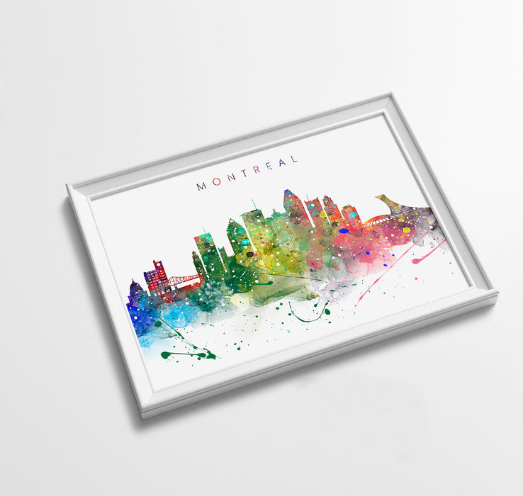 Montreal Skyline Art Print  | Minimalist Watercolor Art Print Poster Gift Idea For Him Or Her | Wall Art | City Skyline | City Prints