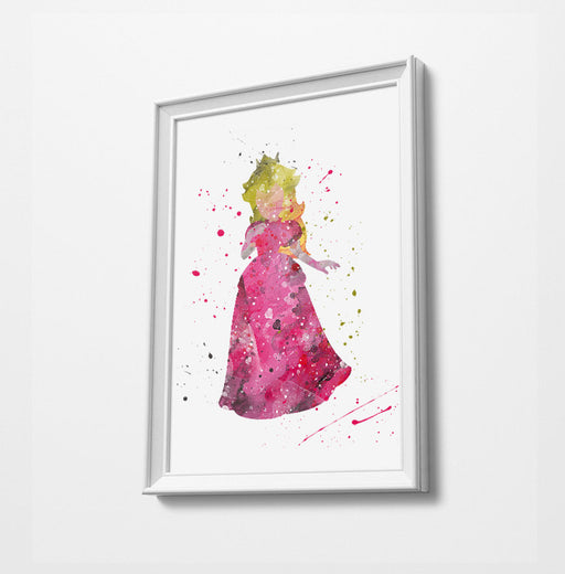 Minimalist Watercolor Art Print Poster Gift Idea For Him Or Her | Gaming Print Artwork |