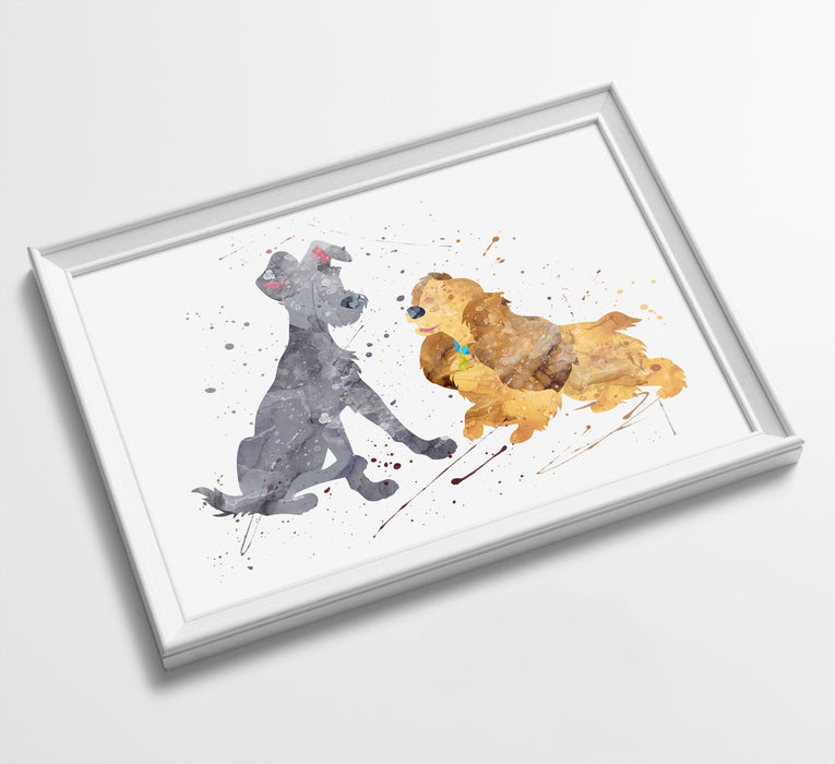 Minimalist Watercolor Art Print Poster Gift Idea For Him Or Her | Disney Prints
