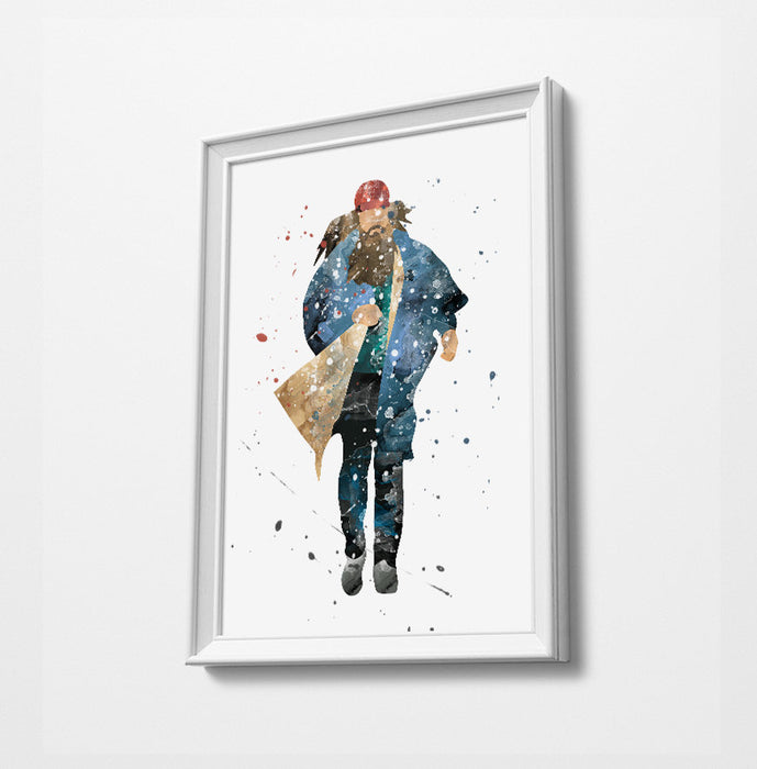 Forrest | Movie Minimalist Watercolor Art Print Poster Gift Idea For Him Or Her | Movie Artwork