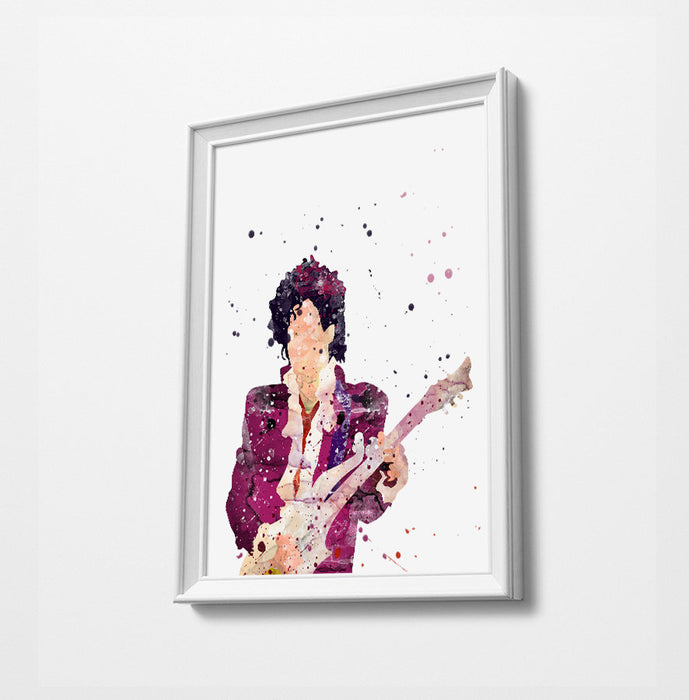 Prince Minimalist Watercolor Art Print Poster Gift Idea For Him Or Her Music Poster