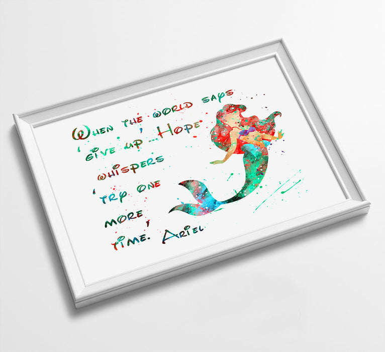 Ariel Quote | Disney Princess Prints | Minimalist Watercolor Art Print Poster Gift Idea For Him Or Her | Nursery Art |