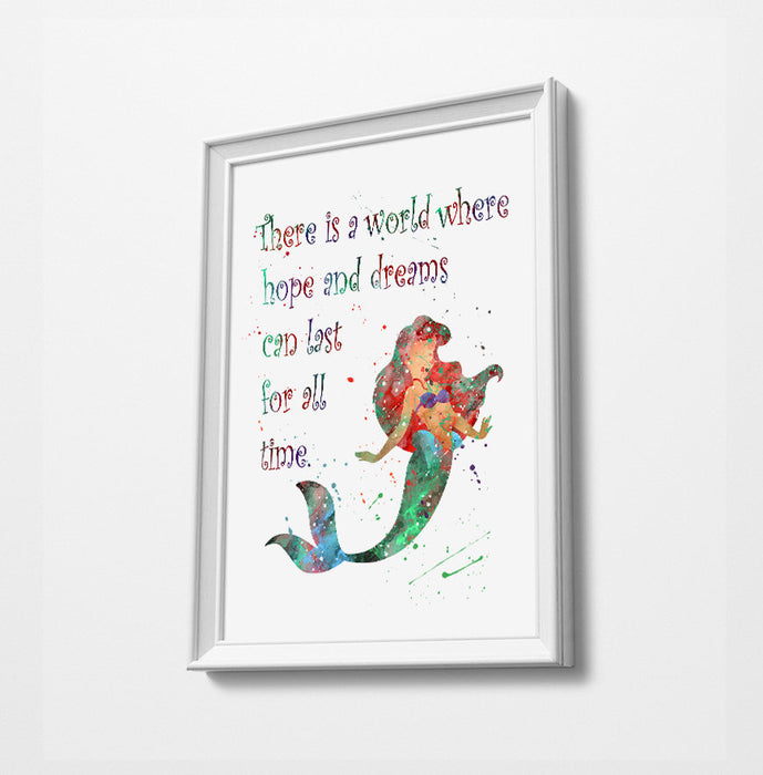 Ariel Quote 2 | Disney Princess Prints | Minimalist Watercolor Art Print Poster Gift Idea For Him Or Her | Nursery Art |