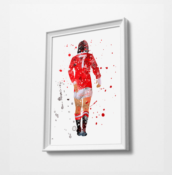 Best | Minimalist Watercolor Art Print Poster Gift Idea For Him Or Her | Football | Soccer