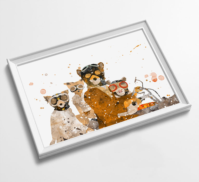 Fox | Movie Minimalist Watercolor Art Print Poster Gift Idea For Him Or Her | Movie Artwork