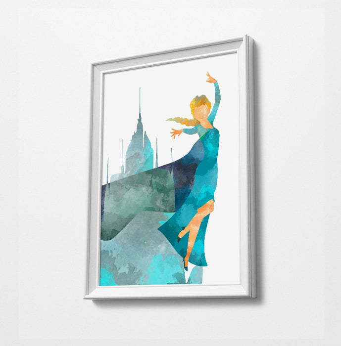 Anna Elsa | Minimalist Watercolor Art Print Poster Gift Idea For Him Or Her |