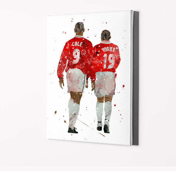 Cole and Yorke | Minimalist Watercolor Art Print Poster Gift Idea For Him Or Her | Football | Soccer