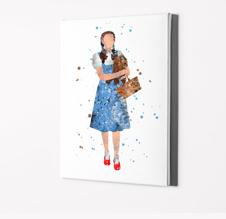 Dorothy | Movie Minimalist Watercolor Art Print Poster Gift Idea For Him Or Her | Movie Artwork