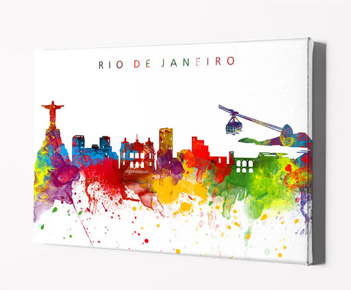 Rio de Janeiro Skyline Art Print  | Minimalist Watercolor Art Print Poster Gift Idea For Him Or Her | Wall Art | City Skyline | City Prints