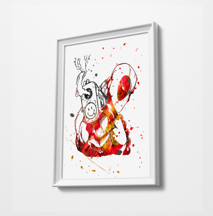 Movie Minimalist Watercolor Art Print Poster Gift Idea For Him Or Her | Movie Artwork