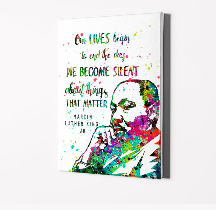 Martin Luther King Jr Famous Quote Art | Minimalist Watercolor Art Print Poster Gift Idea For Him Or Her