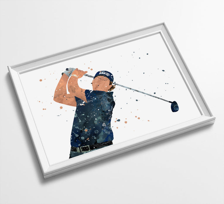 Phil | Minimalist Golf | Watercolor Art Print Poster Gift Idea For Him Or Her | Golf