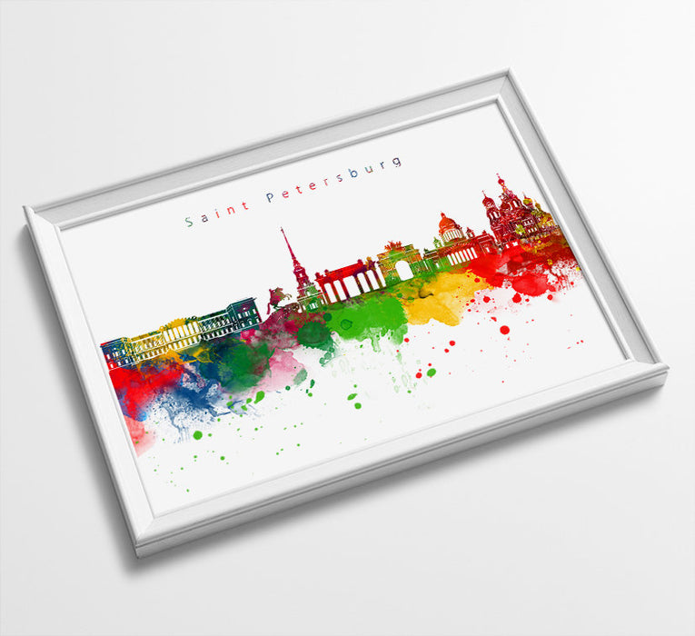 Saint Petersburg Skyline Art Print  | Minimalist Watercolor Art Print Poster Gift Idea For Him Or Her | Wall Art | City Skyline | City Print