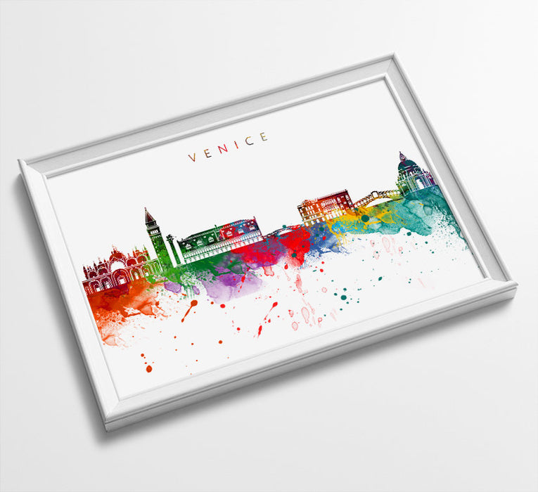 Venice Skyline Art Print  | Minimalist Watercolor Art Print Poster Gift Idea For Him Or Her | Wall Art | City Skyline | City Prints