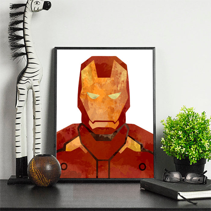 Superhero Print \ Minimalist Art \ Poster Gift Idea For Him Or Her \  Movie Artwork
