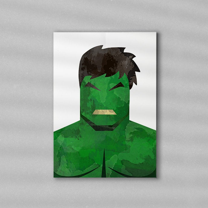 Superhero Minimalist Art Print Poster Gift Idea For Him Or Her | Movie Artwork