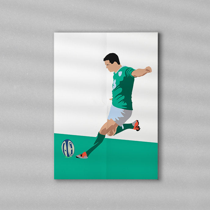 Sexton Ireland Rugby Artwork | Minimalist Art Print Poster Gift Idea For Him | Rugby Print | Gift for Husband Boyfriend