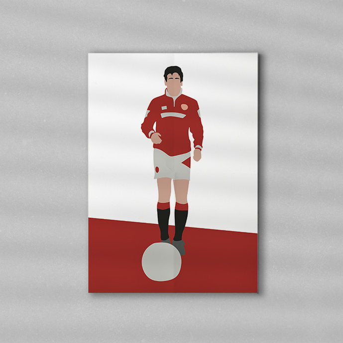 Classic Cantona Minimalist Art Print Poster Gift Idea For Him | Football Print | Soccer| Gift for Husband Boyfriend