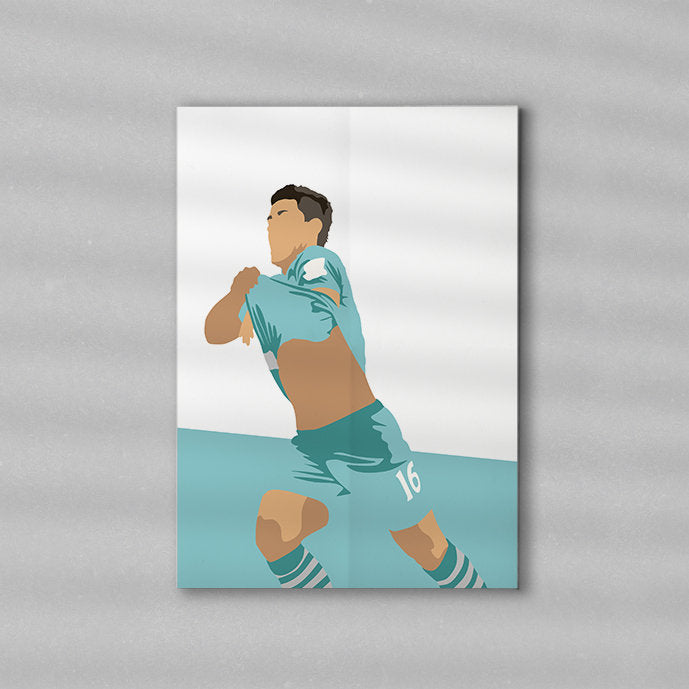 Sergio #10 | Minimalist Art Print Poster Gift Idea For Him | Football Print | Soccer| Gift for Husband Boyfriend