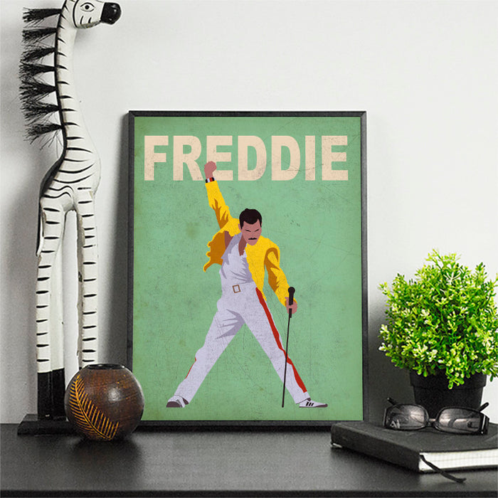 Freddie Minimalist Art Print Poster Gift Idea For Him Or Her Music Poster | Queen Print | Queen Music Poster |