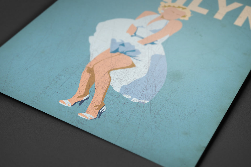 Marilyn Monroe Minimalist Art Print Poster Gift Idea For Him Or Her | Iconic Poster