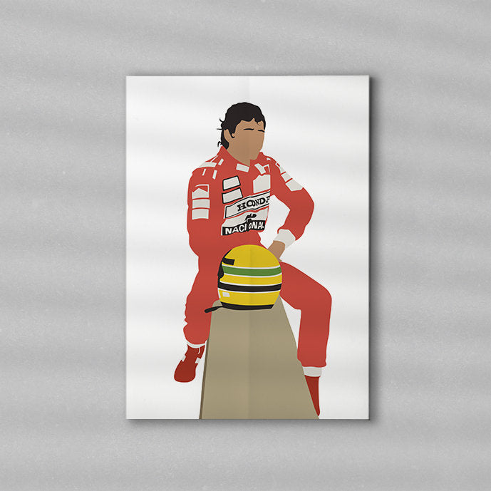 Senna F1 Artwork | Minimalist Art Print Poster Gift Idea For Him Canvas | Formula One Gift