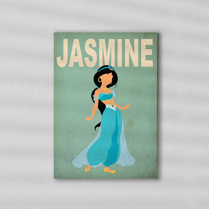 Jasmine Minimalist Art Print Poster Gift Idea For Him Or Her | Disney Princess Prints