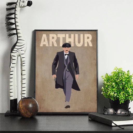 Arthur Artwork | Minimalist Art Print Poster Gift Idea For Him  Print | Gift for Husband Boyfriend