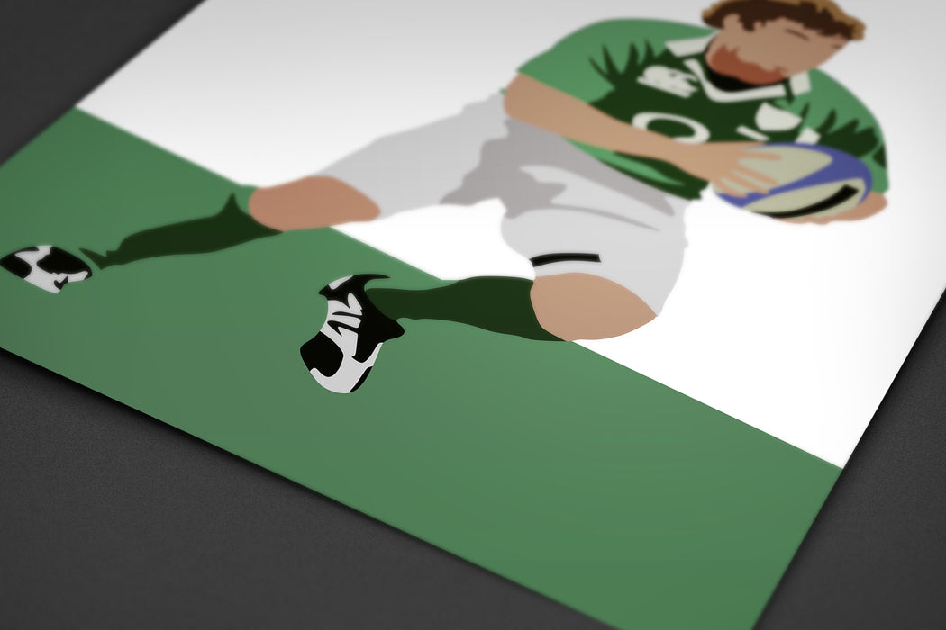 O'Driscoll Ireland Rugby Artwork | Minimalist Art Print Poster Gift Idea For Him | Rugby Print | Gift for Husband Boyfriend