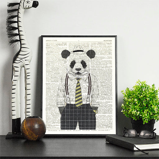 Dictionary Print \  #72 Gangster Panda \ Dictionary Art / Dictionary Page | Nursery Art | Vintage Poster | Gift for her | Gift for Mum