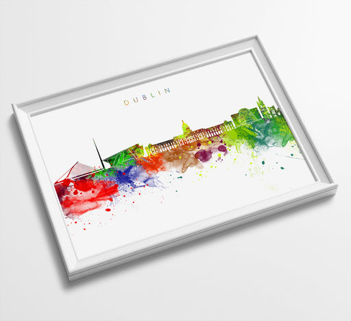 Dublin Skyline Art Print  | Minimalist Watercolor Art Print Poster Gift Idea For Him Or Her | Wall Art | City Skyline | City Prints