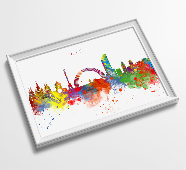 Kiev Skyline Art Print  | Minimalist Watercolor Art Print Poster Gift Idea For Him Or Her | Wall Art | City Skyline | City Prints