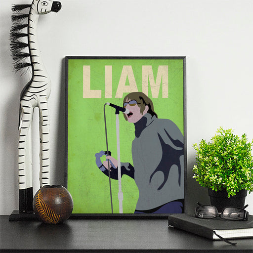 Liam G Minimalist Art Print Poster Gift Idea For Him Or Her Music Poster