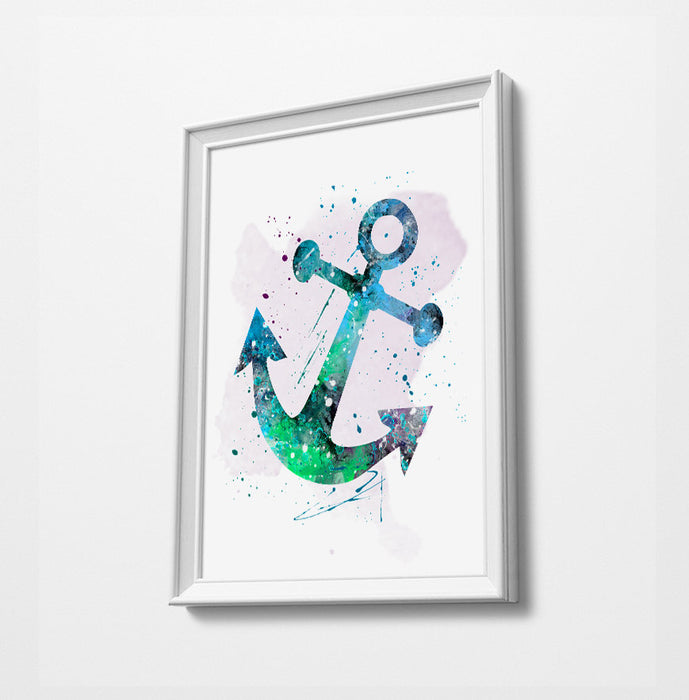 Anchor Watercolor Art Print Poster Gift Idea For Him Or Her | Nursery Art | Christening gift | Gift Idea