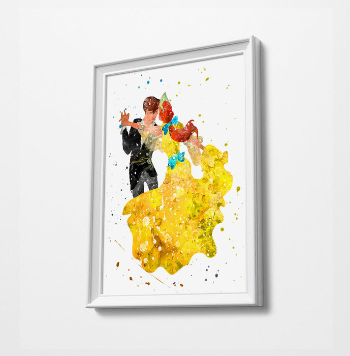 Minimalist Watercolor Art Print Poster Gift Idea For Him Or Her | Nursery Art |